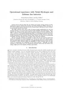 Operational experience with Nickel Hydrogen and Lithium ... - DLR ELIB