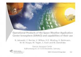 Operational Products of the Space Weather Application ... - eLib - DLR