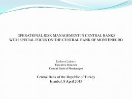 OPERATIONAL RISK MANAGEMENT IN CENTRAL ...
