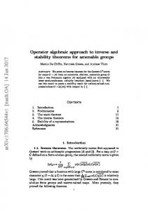 Operator algebraic approach to inverse and stability theorems for ...