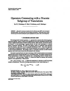 Operators Commuting with a Discrete Subgroup of Translations