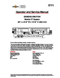 Operators Manual - Oshkosh Specialty Vehicles
