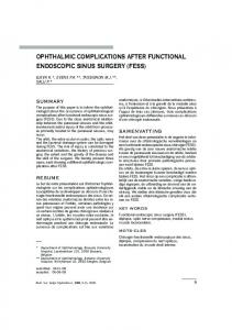 ophthalmic complications after functional ... - Ophthalmologia