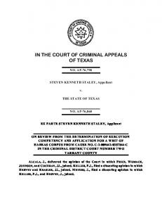 opinion - Court of Criminal Appeals