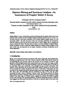 Opinion Mining and Sentiment Analysis - Aircc Digital Library