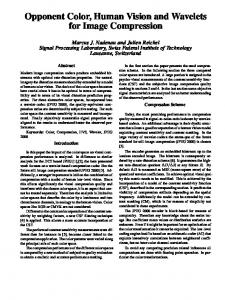 Opponent Color, Human Vision and Wavelets for ... - Semantic Scholar