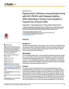 Opportunistic Infections among People Living with ... - Semantic Scholar