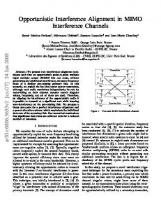 Opportunistic Interference Alignment in MIMO Interference ... - arXiv