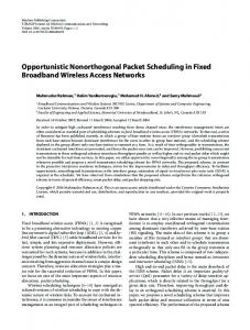 Opportunistic Nonorthogonal Packet Scheduling in