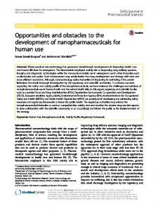 Opportunities and obstacles to the development of ...