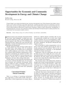 Opportunities for Economic and Community Development in Energy ...
