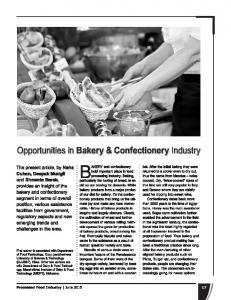 Opportunities in Industry Bakery & Confectionery