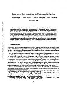 Opportunity Cost Algorithms for Combinatorial Auctions