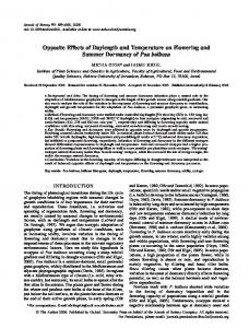 Opposite Effects of Daylength and Temperature on ... - Oxford Journals