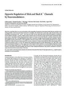 Opposite Regulation of Slick and Slack K ... - Semantic Scholar