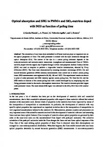 Optical absorption and SHG in PMMA and SiO2 ...