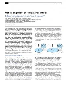 Optical alignment of oval graphene flakes