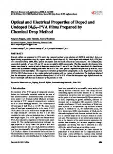 Optical and Electrical Properties of Doped and Undoped Bi2S3)-PVA