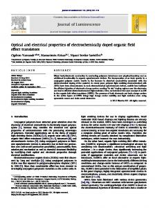 Optical and electrical properties of electrochemically doped organic ...