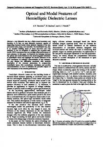 Optical and modal features of hemielliptic dielectric lenses