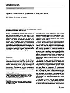 Optical and structural properties of PbI2 thin films | SpringerLink