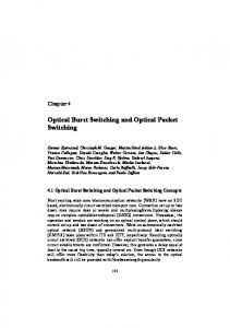Optical Burst Switching and Optical Packet Switching