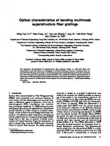 Optical characteristics of bending multimode ... - OSA Publishing