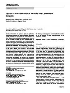 Optical Characterization in Annatto and Commercial ... - Springer Link