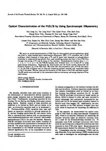 Optical Characterization of the PtSi/Si by Using ... - Springer Link