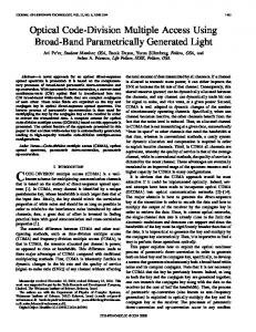 Optical Code-Division Multiple Access Using Broad-Band ...