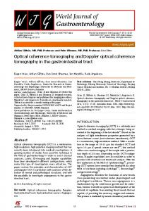 Optical coherence tomography and Doppler optical coherence ...
