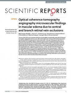 Optical coherence tomography angiography ... - Semantic Scholar