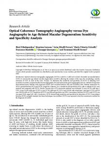 Optical Coherence Tomography Angiography versus Dye ...