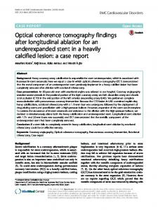 Optical coherence tomography findings after