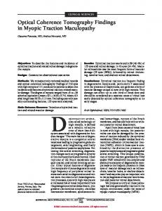 Optical Coherence Tomography Findings in Myopic