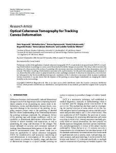 Optical Coherence Tomography for Tracking Canvas ... - Hindawi