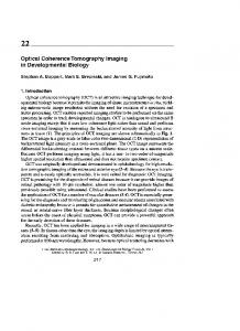 Optical Coherence Tomography Imaging in ... - CiteSeerX