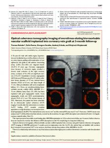 Optical coherence tomography imaging of everolimus ...