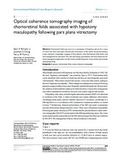 Optical coherence tomography imaging of ... - Semantic Scholar