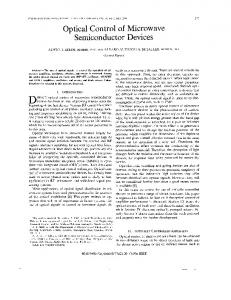 Optical control of microwave semiconductor devices