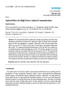 Optical Fiber for High-Power Optical Communication