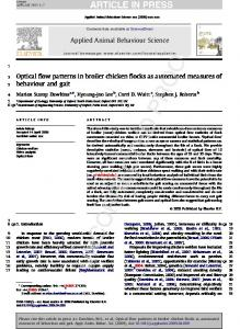 Optical flow patterns in broiler chicken flocks as automated measures ...