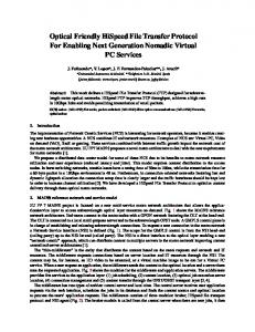 Optical Friendly HiSpeed File Transfer Protocol For Enabling Next ...