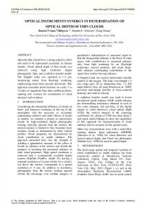 Optical instruments synergy in determination of optical depth of thin ...