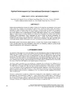 Optical Interconnects in Conventional Electronic ... - Semantic Scholar