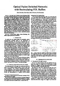 Optical Packet Switched Networks with ... - Semantic Scholar
