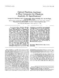 Optical plankton analyser: A flow cytometer for ... - Wiley Online Library