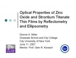 Optical Properties of Zinc Oxide and Strontium Titanate Thin Films ...