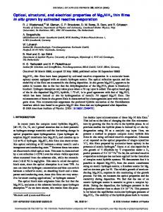 Optical, structural, and electrical properties of