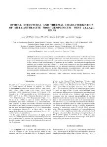 optical, structural and thermal characterization of meta